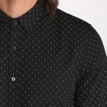 Bossini Printed Long Sleeves Shirt with Complete Placket