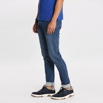 Bossini Full Length Jeans with Button Closure