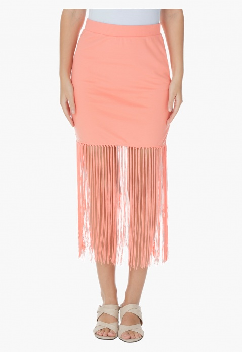 Mini Skirt with Tassels