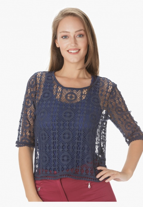 Crochet Lace Shell Top
