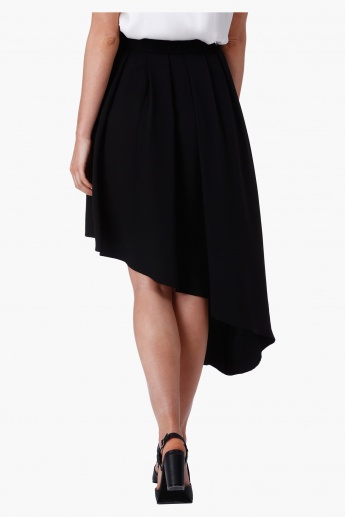 Asymmetrical Midi Skirt in Regular Fit