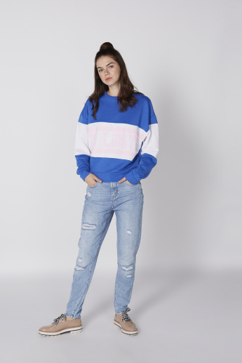 Crew Neck Sweatshirt with Long Sleeves