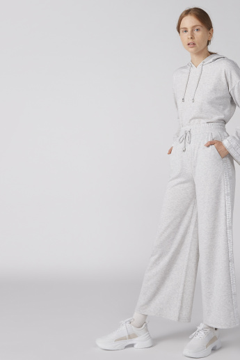 Tape and Pocket Detail Culottes with Elasticised Waistband