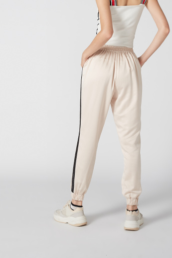 Mid-Rise Jog Pants with Pocket Detail and Drawstring