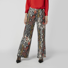 Full Length Printed Palazzo Pants with Elasticised Waistband