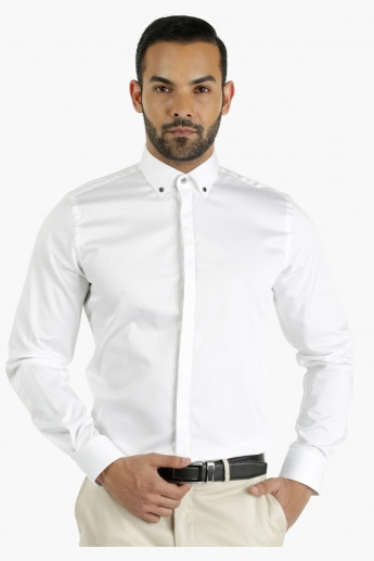 L'HOMME Cotton Dress Shirt in Regular Fit