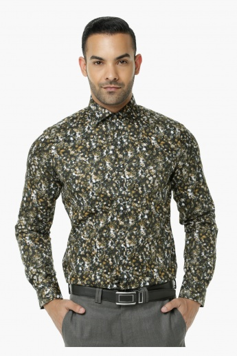 L' Homme Printed Casual Shirt with Long Sleeves