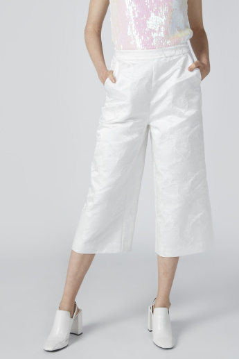 ELLE Jacquard Textured Culottes with Elasticised Waistband