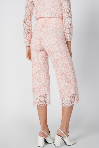 ELLE Lace Mid Waist Culottes with Elasticised Waistband