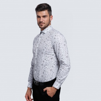 L'HOMME Printed Shirt with Long Sleeves
