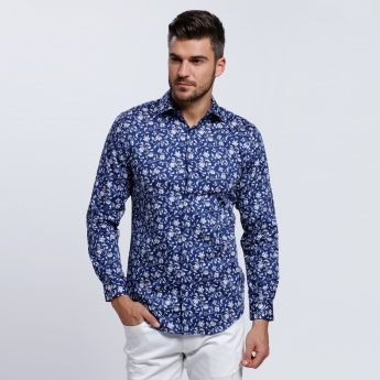 L'HOMME Printed Long Sleeve Shirt