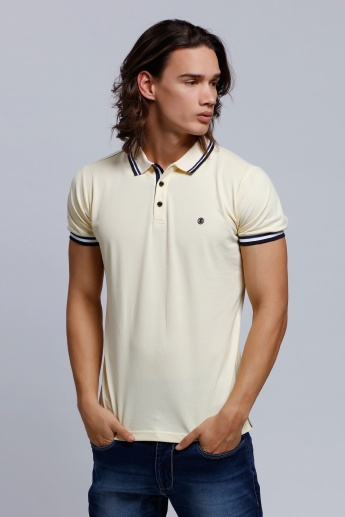 L'HOMME Short Sleeves Polo Neck T-Shirt