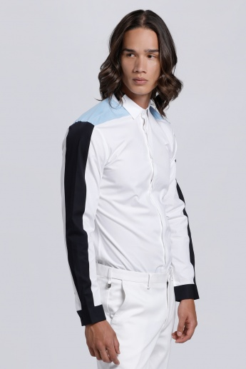 L'HOMME Long Sleeves Shirt with Complete Placket on the Front