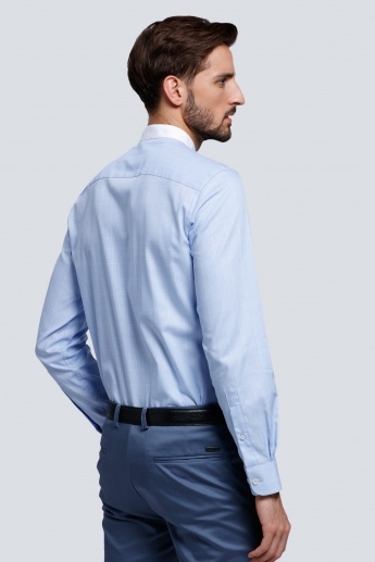 L'HOMME Long Sleeves Shirt with Mandarin Collar