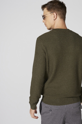 L'Homme Crew Neck Sweater with Long Sleeves