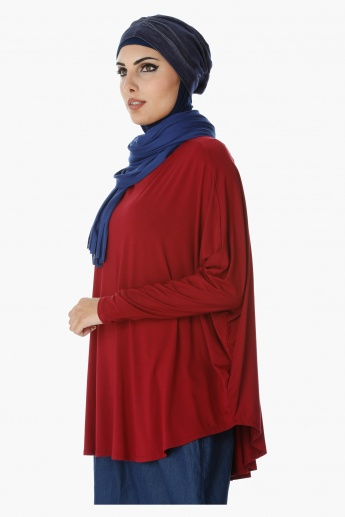 Plain Top with Dolman Sleeves in Regular Fit