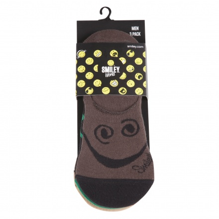 Smiley Print Socks - Set of 3