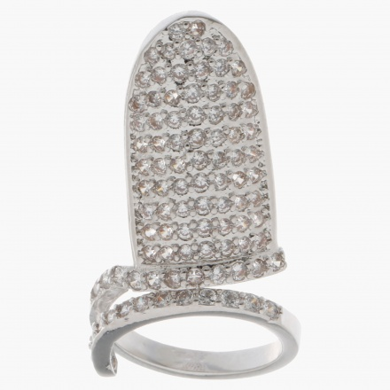 Crystal-embellished Finger Ring