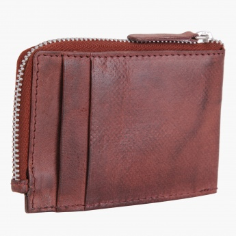 Zippered Leather Wallet