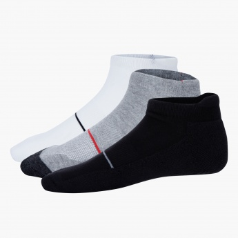 Assorted Ankle-length Sport Socks - Set of 3