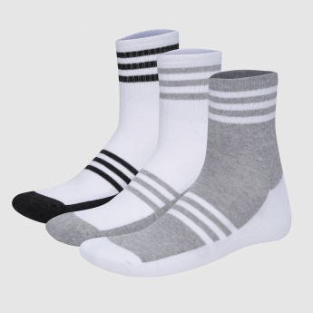 Printed Crew Length Socks - Set of 3