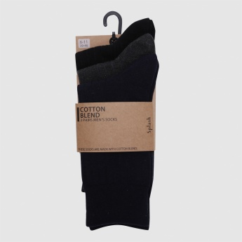 Ribbed Crew Length Socks - Set of 3