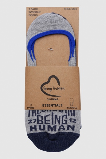 Being Human Printed No Show Socks - Set of 3