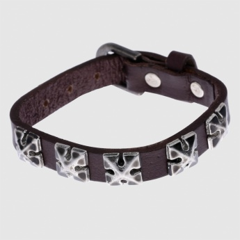 Studded Braclet with Buckle Closure