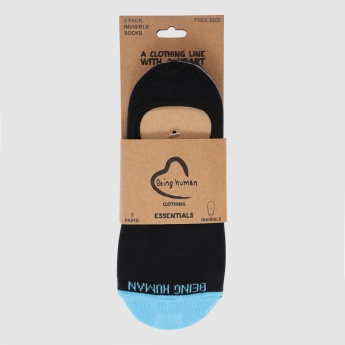 Being Human No Show Socks - Set of 3