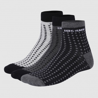 Being Human Printed Ankle Length Socks - Set of 3