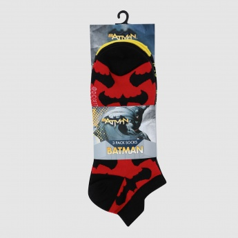 Batman Print Ankle Socks - Set of 3