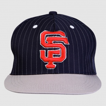 Embroidered Cap with Stripes