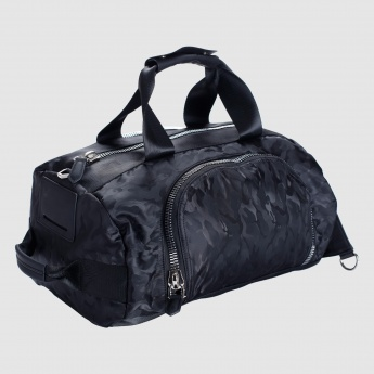 Iconic Printed Duffel Bag with Zip Closure