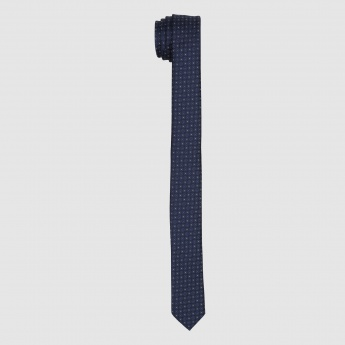 Embroidered Slim Cut Tie