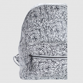 Iconic Printed Backpack with Zip Closure