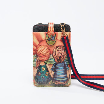 Printed Pouch with Detachable Shoulder Strap