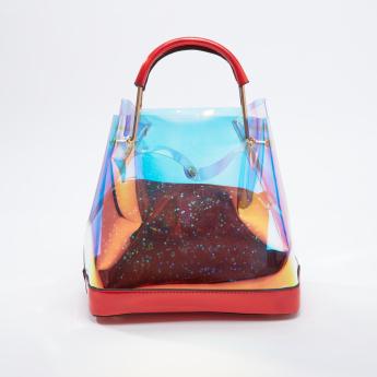 f455736b68 See Through Handbag with Glitter Crossbody Bag