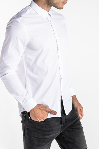 new product 8e02f c26d8 CR7 CRISTIANO RONALDO Long Sleeves Shirt in Slim Fit with Complete Placket