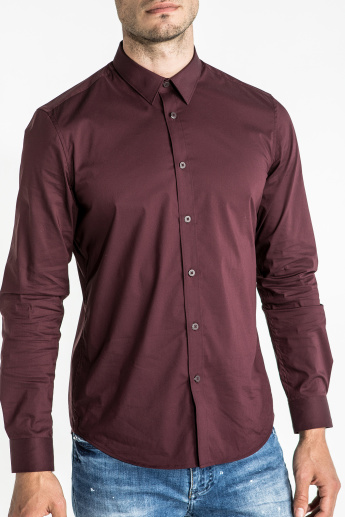 CR7 CRISTIANO RONALDO Long Sleeves Shirt with Complete Placket