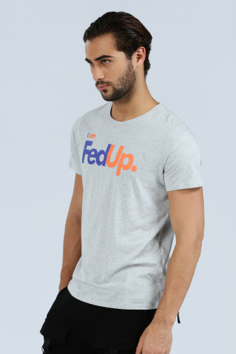 Iconic Printed Crew Neck T-Shirt with Short Sleeves