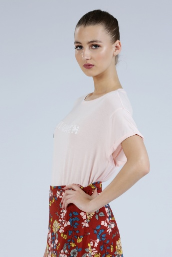 Iconic Printed Short Sleeves T-Shirt with Round Neck