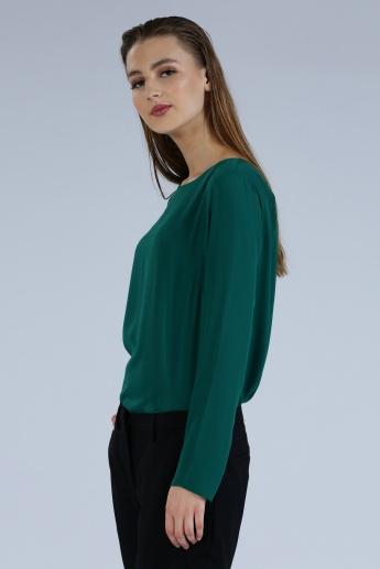 Iconic Long Sleeves Top with Round Neck