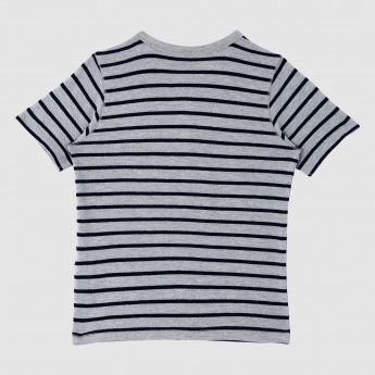 Iconic Henley Neck T-Shirt with Short Sleeves