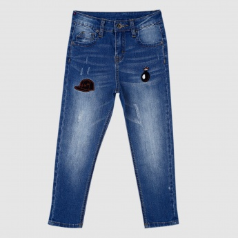 Iconic Full Length Applique Jeans