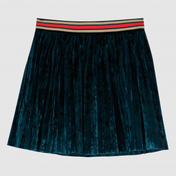 Iconic Skirt with Elasticised Waistband and Zip Closure