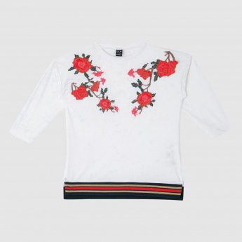 Iconic Embroidered Round Neck Sweat Top