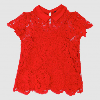 Iconic Short Sleeves Lace Top