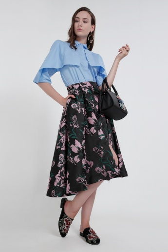 Iconic Printed Skirt with Pocket Detail