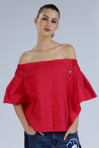 Iconic Off Shoulder Top with Short Sleeves