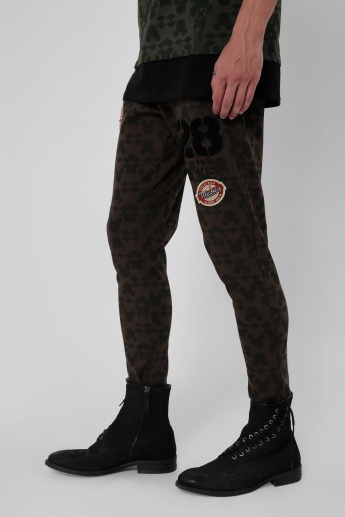 Iconic Printed Full Length Pants  with Elasticised Waistband